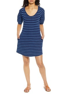 Lucky Brand Indigo Puff Sleeve T-Shirt Dress