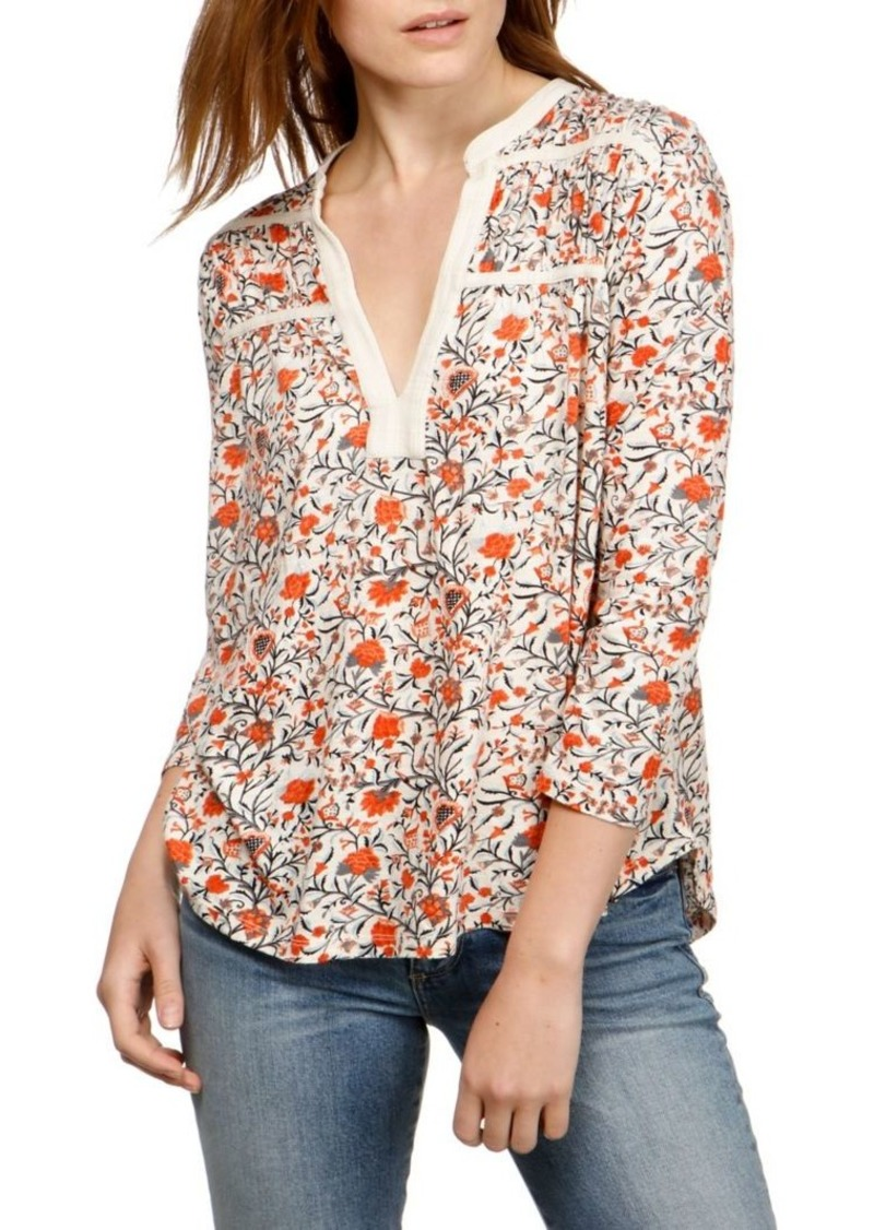 95a48f5ee83600 Lucky Brand Lucky Brand Ivy Floral Printed Top