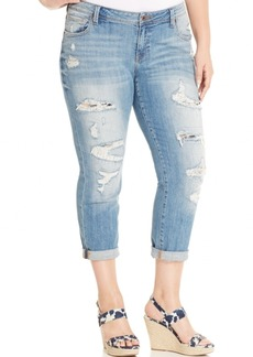 Lucky Brand Jeans Trendy Plus Size Ripped Boyfriend Jeans