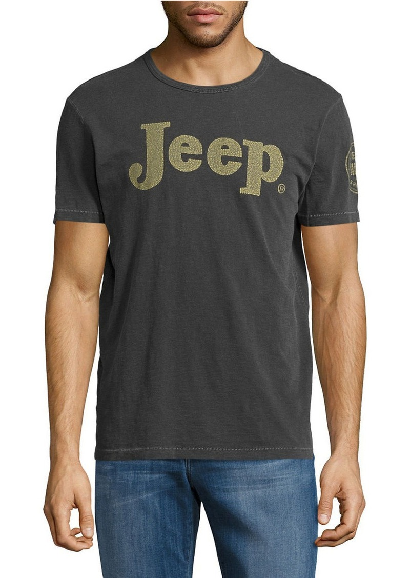 Lucky Brand LUCKY BRAND Jeep Logo Crewneck TShirt T Shirts - Jeep logo t shirt