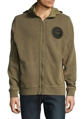 Lucky Brand Jeep Woven Mix Mock Cotton Jacket