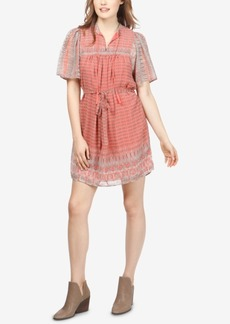 Lucky Brand Jenna Mixed-Print Dress