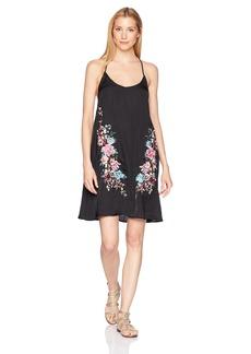 Lucky Brand Junior's ZEN Garden Embroidered Slip Dress Cover up  L