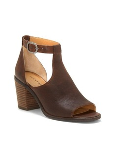 Lucky Brand Kadian Leather Peep Toe Booties