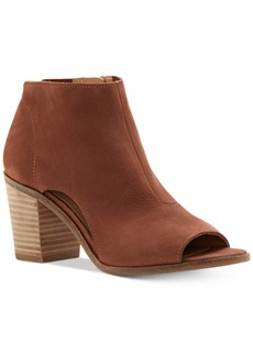 Lucky Brand Kasima Peep-Toe Block-Heel Booties Women's Shoes