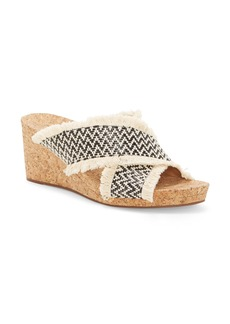 Lucky Brand Khillian Woven Wedge Slide Sandal (Women)