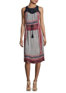 Lucky Brand Knitted Macra Lace Dress
