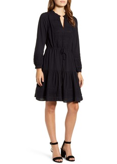 Lucky Brand Kourtney Long Sleeve Dobby Dress