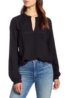 Lucky Brand Kourtney Long Sleeve Dobby Top