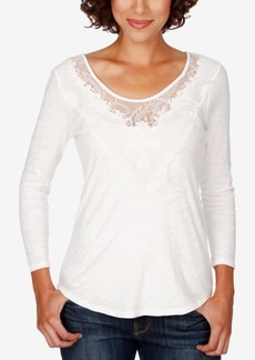 Lucky Brand Lace-Applique Top