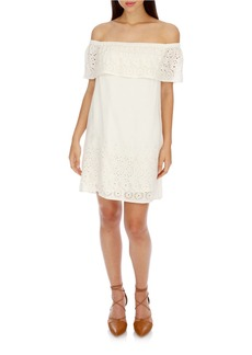 LUCKY BRAND Lace Off-the-Shoulder Shift Dress