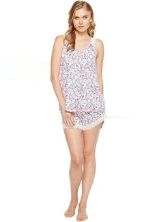 Lucky Brand Lace Trim Pajama Short Set