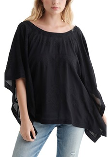 Lucky Brand Lace-Up Back Caftan Top