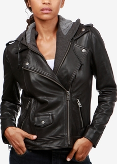 Lucky Brand Layered-Look Leather Moto Jacket
