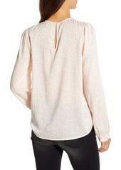 Lucky Brand Lea Floral Pintuck Long Sleeve Top
