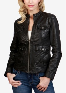 Lucky Brand Leather Biker Jacket