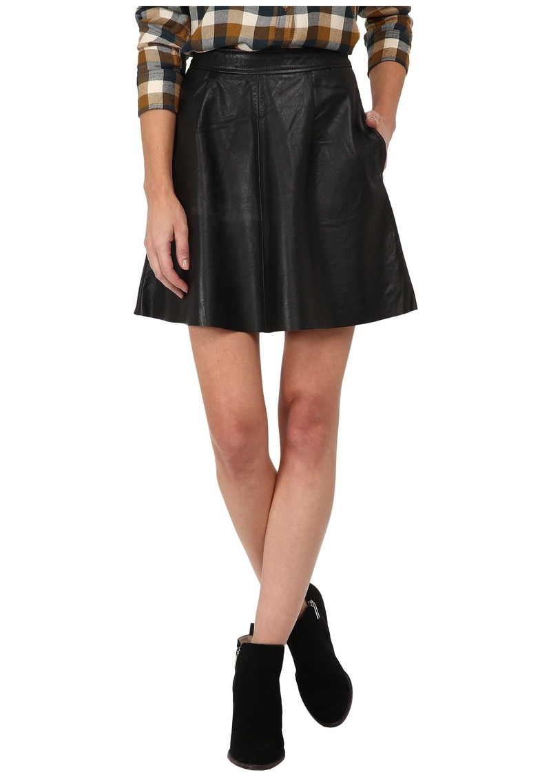 Lucky Brand Leather Flirty Skirt