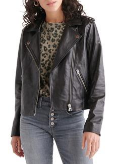 Lucky Brand Leather Moto Jacket