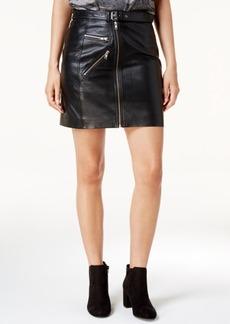 Lucky Brand Leather Moto Skirt