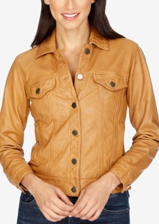 Lucky Brand Lucky Brand Leather Mixed Media Moto Jacket