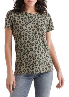 Lucky Brand Leopard Graphic Pocket Tee