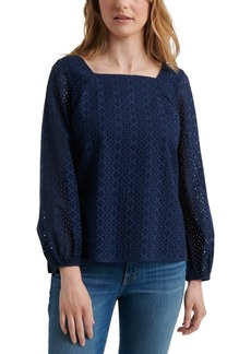 Lucky Brand Liane Cotton Eyelet Top