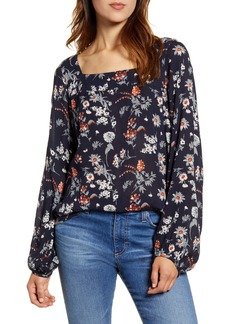 Lucky Brand Liane Floral Top