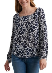 Lucky Brand Liane Square-Neck Top