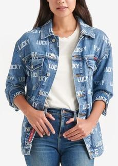 Lucky Brand Logo Boyfriend Trucker Jacket