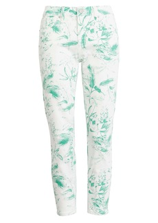 Lucky Brand Lolita Crop Skinny Jeans (Green Floral)