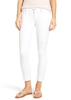 Lucky Brand Lolita Distressed Fray Hem Capri Jeans (Wylie)