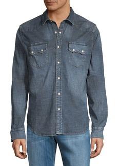 Lucky Brand Long Sleeve Sawtooth Denim Shirt