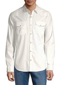 Lucky Brand Long Sleeve Striped Dobby Shirt