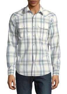 Lucky Brand Long Sleeve Western Plaid Shirt