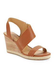 Lucky Brand Lowden Leather Wedge Sandals