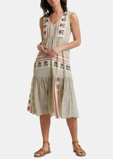 Lucky Brand Luna Border Printed Dress