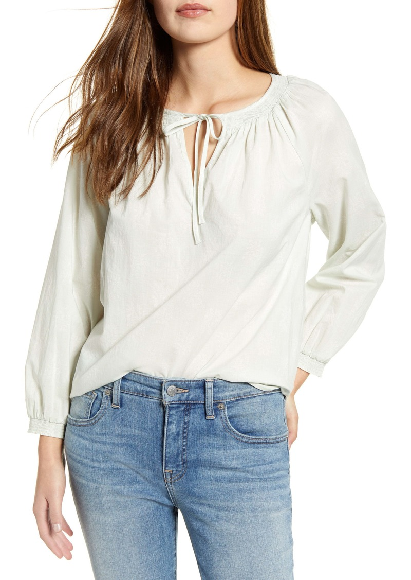 Lucky Brand Lyla Peasant Top