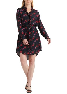 Lucky Brand Mackenzie Floral Shirt Dress