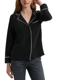 Lucky Brand Maggie Piped-Trim Shirt