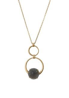 Lucky Brand Malibu Glamping Goldtone & Crystal Pendant Necklace