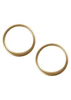Lucky Brand Malibu Glamping Goldtone Modern Stud Hoop Earrings