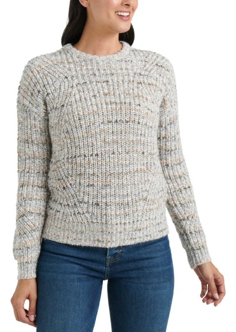 Lucky Brand Marled-Knit Crewneck Sweater