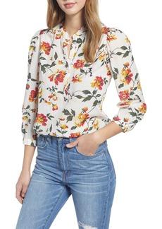 Lucky Brand Megan Popover Blouse