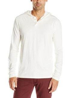 Lucky Brand Men's 2 Button Henley With Hood