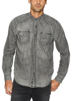 Lucky Brand Men's 2 Pocket Denim Shirt