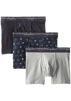 Lucky Brand Men's 3-Pack Stretch Boxer Briefs