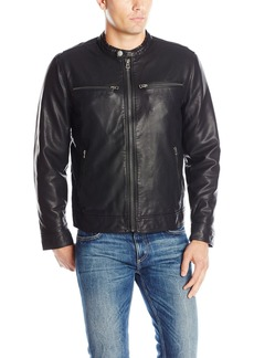 Lucky Brand Men's Adison Faux Leather Moto Jacket  L