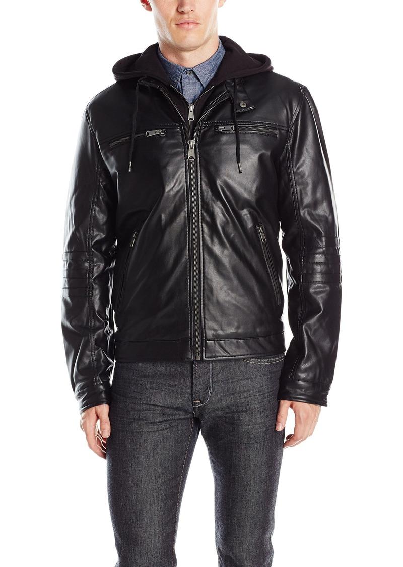 Lucky Brand Men's Archibald Faux Leather Moto Jacket