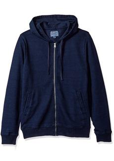 Lucky Brand Men's Aztec Graphic Full Zip Hooded Sweatshirt  S