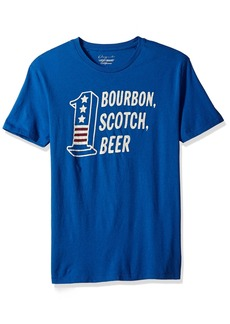Lucky Brand Men's Bourbon Scotch Beer Graphic Tee
